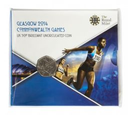 2014 50p Glasgow Commonwealth Games brilliant Uncirculated Pack for sale